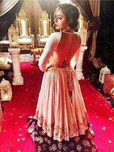 Payal Singhal # sexy back # lehenga # tassel love #