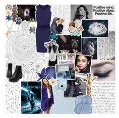 """☾; ""your halo's gone and all I see is horns"""" by the-forgotten-wolf ❤ liked on Polyvore featuring art"