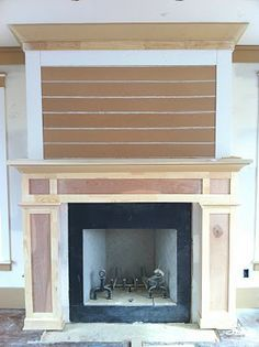 Blog | Tiek Built Homes - Part 6 - raw fireplace detail with shiplap