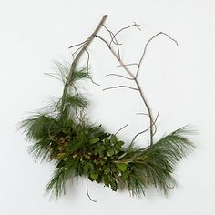 Pine & Bells Wreath - Terrain - love the asymmetry of this rustic wreath