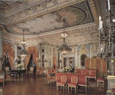 Music Room at #TheBreakers The Breakers was the summer house of Cornelius #Vanderbilt II and his wife Alice, built between 1893 and 1895, in #Newport Designed by R. Hunt. Jules Allard cooperated with the decorator Codman. #historic #mansions #mansion #gildedage #art #architecture #luxury #interiordecoration  #interiordesign #decor #julesallard #RhodeIsland