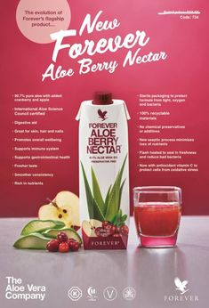 Bursting with cranberry, sweet apple and vitamin C, Forever Aloe Berry Nectar wo. - Bursting with cranberry, sweet apple and vitamin C, Forever Aloe Berry Nectar works wonders for you - Aloe Vera Gel Forever, Forever Living Aloe Vera, Forever France, Forever Aloe Berry Nectar, Aloe Drink, Forever Living Business, Nutrition Drinks, Antioxidant Vitamins, Forever Living Products