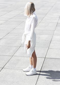 Outfit: all white sporty look / Nike