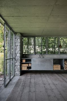 Act Romegialli Architects designed the Little Green Box in Italy, Designed to be Consumed by Vegetation