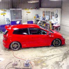 #Honda #civic #ep3 #typer #vtec #k20 #fastcar #mugen #japan #jap #jdm #red #enkei #wheels