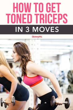 This triceps workout is simple enough to do at home, and will tighten your arms in just weeks. This triceps workout is simple enough to do at home, and will tighten your arms in just weeks. Flabby Belly, Get Toned, Fitness Workout For Women, Skinny Ms, Gym Routine, Senior Fitness, Triceps Workout, Flexibility Workout, Fitness Transformation