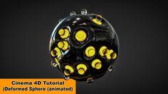 Animated Deformed Sphere (Cinema 4D Tutorial)