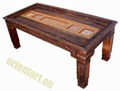 210x 100 cm antique-look orient colonial solid by KabulGallery
