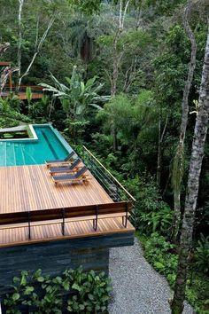 Swimming pool Design in house Villa Design, House Design, Outdoor Spa, Outdoor Gardens, Outdoor Living, Outdoor Decor, Backyard Pool Designs, Swimming Pool Designs, Exterior Design