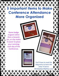 5 Important Items To Make Conference Attendance More Organized