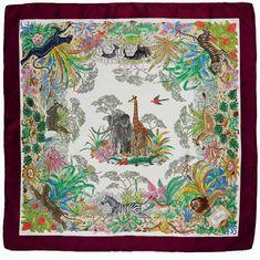 Gardens of silk - Tern - Picasa Web Albums Flora Vintage, Gucci Scarf, Fashion Art, Fashion Design, Luxury Fashion, Vintage Scarf, Vintage Gucci, Scarf Styles, Vintage World Maps