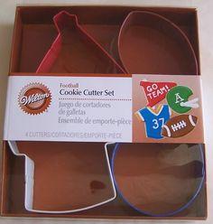 Wilton Football Metal Cookie Cutter Set | eBay