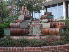 Book Fountain at the Cincinnati Public Library