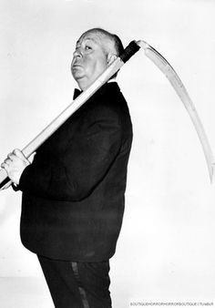 Alfred Hitchcock as THE GRIM REAPER ~ a dry intelligent sense of humor! Uploaded by user Alfred Hitchcock, Hitchcock Film, Hollywood Stars, Classic Hollywood, Old Hollywood, Hollywood Cinema, Monsieur Cinema, Tv Movie, Classic Movie Posters