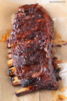 ST. LOUIS-STYLE SLOW COOKER BARBECUE RIBS [USA, St. Louis] [therisingspoon] [slow cooker, crock-pot]
