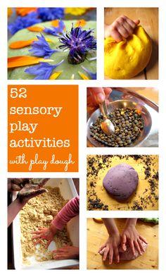 52 Sensory play activities with play dough