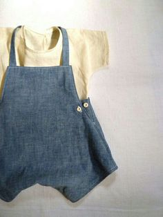 Items similar to Pure Linen Tee for Children on Etsy - Kindermode 2020 Fashion Kids, Baby Boy Fashion, Toddler Outfits, Baby Boy Outfits, Baby Boy Overalls, Denim Overalls, Leather Baby Shoes, Baby Boy Shoes, Baby Kids Clothes
