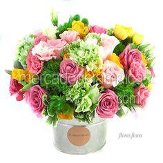 Flor Lisianthus Rosa en Arreglo Floral !  Envia Flores