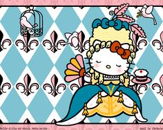 COZY HOME CHRONICLES: For the Girl Who's Had All the Girly Parties: Marie Antoinette Hello Kitty Hello Kitty Pictures, Kitty Images, Little Twin Stars, Keroppi, 2015 Wallpaper, Wallpapers, Hello Kitty Vans, Hello Kitty Christmas, Hello Kitty Wallpaper