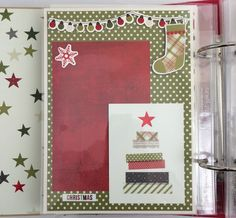Artsy Albums Scrapbooking Kits and Custom Designed Scrapbook Albums by Traci Penrod: New Album kit with Simple Stories Claus & Co.