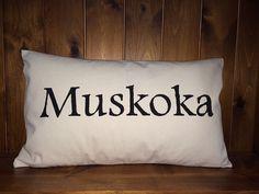 Cotton Canvas / Burlap Pillow Cover. Muskoka by UrbanTreeArtistry