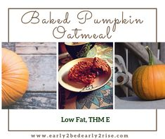 """Jump to Recipe Print Recipe Pumpkin baked oatmeal is one of our favorite fall (and year round) treats! I wish you could smell my house right now! Seriously, if only … Read More """"Easy, Delicious Pumpkin Baked Oatmeal (Low Fat, THM E)"""""""