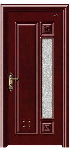 GJA-0010A Doors Interior, Wooden Doors, Windows And Doors, Pvc Door, Ceiling Design Bedroom, Wooden Front Doors, Main Gate Design, Wooden Door Design, Steel Doors