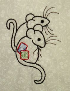 Anna's Awesome Appliques: The mice have come out to play