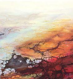 Encaustic, Autumn Marsh by Alicia Tormey