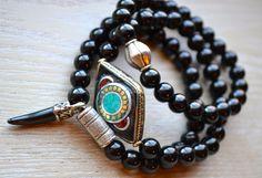 Set of 3 Boho Beaded Stretch Bracelets by uniquebeadingbyme #boho #bohemian #bohojewelry
