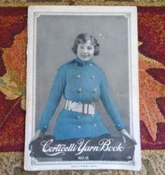Antique 1918 Corticelli Yarn Book No 8 Knitting Crochet Color Illustrations | eBay
