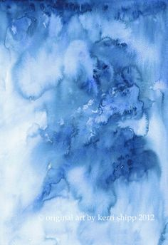'Ombre' in Denim - the latest in my series of abstract works #kerrishipp #watercolour #abstract