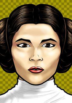 Princess Leia Portrait Shot by =Thuddleston on deviantART