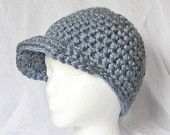 PATTERN ONLY  Crochet  Women's Newsboy Cap. Easy. Pattern number 105 - Finished Products May be Sold On Etsy.. $4.00, via Etsy.