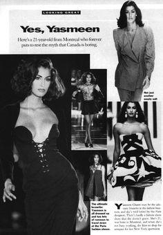 1990's Model Yasmeen Ghauri: