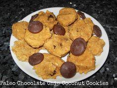 #Paleo chocolate coconut cookies! YUM!