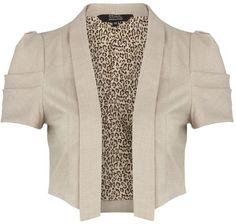 natural cropped jacket