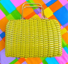 Hey, I found this really awesome Etsy listing at https://www.etsy.com/listing/195458150/1950-1960-woven-handbag-vintage-1950s