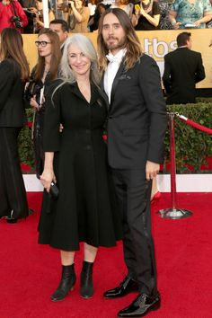 Jared Leto And His MOM There Is Something Special About A Guy Who Brings His Mom Instead Of You Know What I Mean (Whatever)