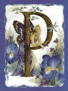 Shirley Barber butterfly wing fairy letter p Alphabet Art, Letter Art, Woodland Creatures, Magical Creatures, Kobold, Fairy Pictures, Beautiful Fairies, Flower Fairies, Fairy Art