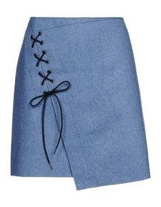 Vanessa Bruno Knee Length Skirt - Vanessa Bruno Skirts Women For a too tight skirt let it hang and add eye distracting decoration. Diy Couture, Cute Skirts, Skirt Outfits, Dressmaking, Diy Clothes, Sewing Projects, Sewing Patterns, Creations, Fashion Dresses