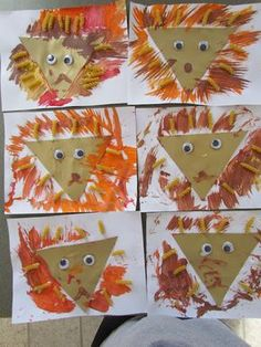 babies, toddlers, and preschoolers, oh my!: ROOOAAARRRR! A fun and colorful lion craft for #preschool and early elem. Use with Apologia Land Animals #homeschool