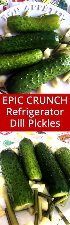 Easy Homemade Refrigerator Garlic Dill Pickles Recipe - These refrigerator dill pickles are the bomb! I'll never need another pickle recipe ever again! Garlic Dill Pickles, Pickled Garlic, Pickled Eggs, Easy Dill Pickle Recipe, Pickles Recipe, Canning Pickles, Refrigerator Pickles, Homemade Pickles, Canning Recipes