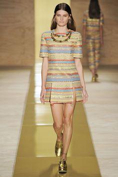 Maria Filó no Fashion Rio apresentando a coleção da temporada Verão 14.