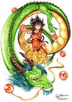 Goku and Shenlong by fhao-ra on DeviantArt