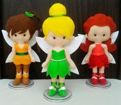 Bonecas Fadas Disney de feltro com 20cm de altura. Tags: fadas, Disney, fairies, Tinkerbell, Sininho, Fawn, Iridessa, Rosetta, Silvermist, personagens, handmade, artesanato, feltro, felt, DIY
