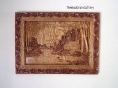 Custom Wood Carving: This Cabin in the Woods wood carving wall art, is carved from solid ash wood, and is the perfect piece of rustic wood wall art for decorating your cabin walls. Peaceful. Majestic. Retirement. Quiet. Hunting Cabin. Weekend Getaway. There are so many ways to describe this incredible piece of artwork! This is a magnificent piece of 3D relief carving of a log cabin in the woods. It would look amazing over the fireplace, in the den, in the basement or at the cabin.