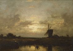 JULES DUPRÉ French, 1811 - 1869 Le Moulin (The Windmill)