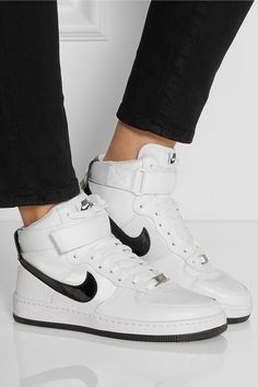 Nike|Air Force 1 Ultra Force leather and canvas sneakers|NET-A-PORTER.COM