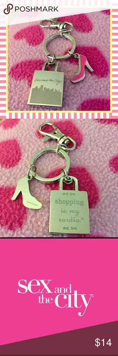 "‼️LAST CHANCE‼️ Sex And The City Keychain Vintage Sex And The City ""Shopping Is My Cardio"" Keychain 💕 Never Used And In Excellent Condition. Sex And The City 💕 Accessories"